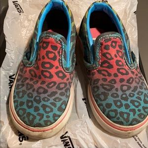 Vans classic slip on toddler size 6 animal multi